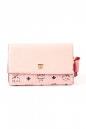 MCM Wallet pink themed print casual look