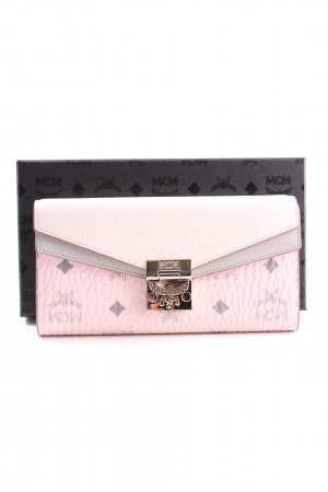 MCM Wallet pink-light grey abstract pattern casual look