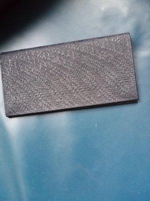 MCM Wallet dark blue mixture fibre