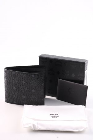 MCM Wallet black allover print business style