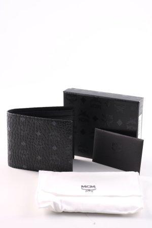 MCM Geldbörse schwarz grafisches Muster Business-Look