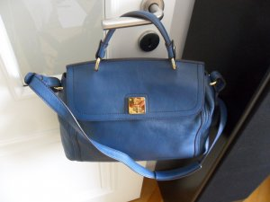 MCM Handtasche 100% Original, blau, echtes Leder