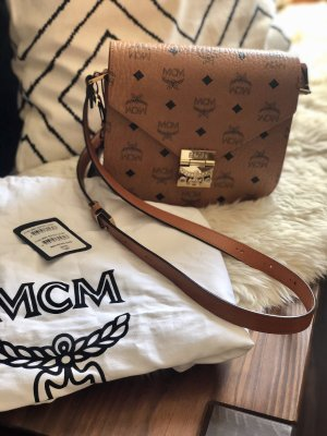 "MCM Handtasche ""Patricia Visetos Shoulder Bag Small Cognac"" hellbraun"
