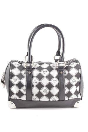 MCM Handtasche schwarz-weiß Allover-Druck Casual-Look