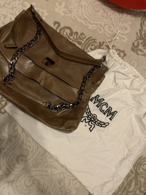 MCM Sac Baril marron clair
