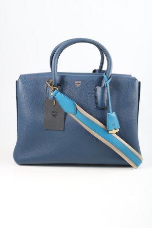 MCM Bolso barrel azul estilo «business»