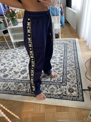 MCM Falda pantalón de pernera ancha violeta azulado-azul oscuro