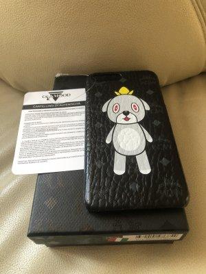 MCM Mobile Phone Case black-white leather
