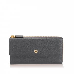 MCM Ivana Bloom Leather Wallet