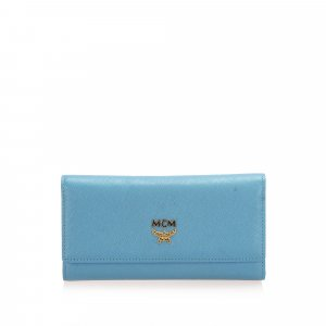 MCM Ivana Bloom Trifold Long Wallet