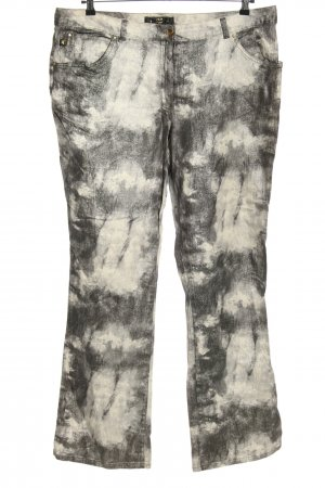 MCM Denim Flares black-natural white abstract pattern casual look