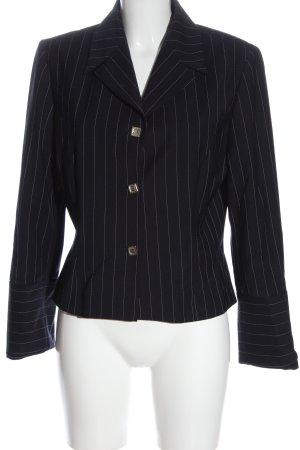 MCM Short Blazer blue-white striped pattern business style