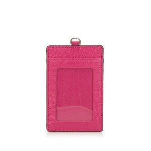 MCM Porte-cartes rose cuir