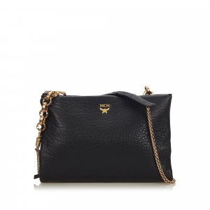 MCM Leather Chain Crossbody Bag