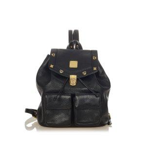 MCM Leather Drawstring Backpack