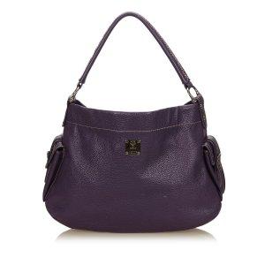 MCM Handbag purple leather