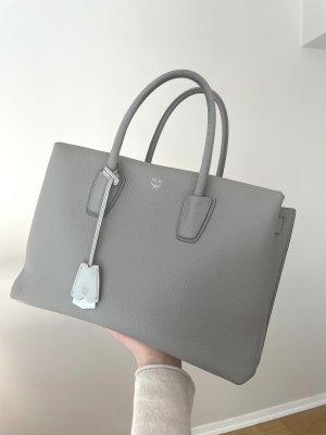 MCM Leather Handbag Grey