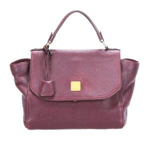 MCM Satchel purple leather