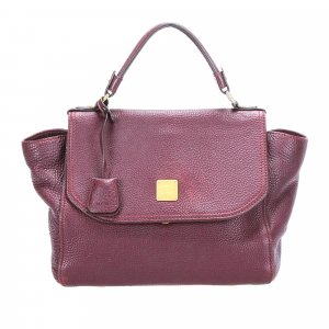 MCM Satchel purple leather