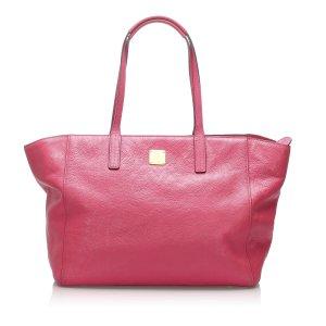 MCM Leather Tote Bag