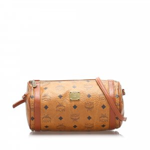 MCM Leather Visetos Crossbody Bag