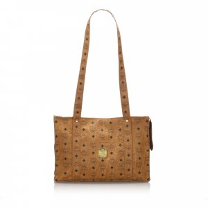 MCM Leather Visetos Tote Bag