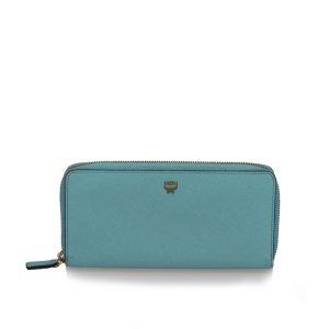 MCM Wallet light blue leather