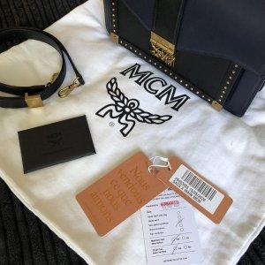 MCM Handbag dark blue leather