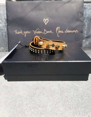 MCM Bracelet en cuir cognac
