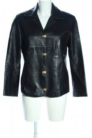 MCM Leather Jacket black casual look