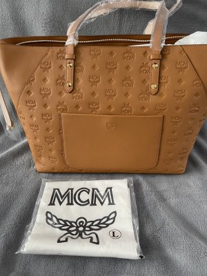 MCM Shoulder Bag camel leather