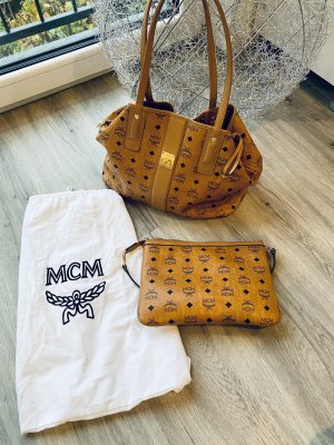 MCM Shopper bruin-cognac