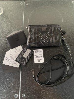 MCM Luxus Leder Clutch Gürteltasche schwarz