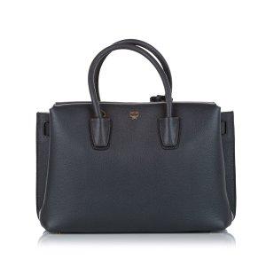 MCM Satchel dark grey leather
