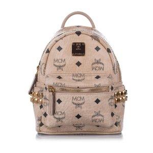 MCM Mini Visetos Leather Backpack