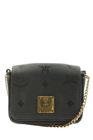 MCM Minitasche schwarz grafisches Muster Elegant