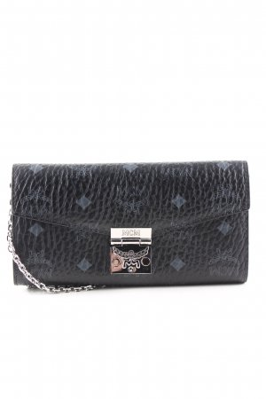 MCM Mini Bag black-blue animal pattern business style