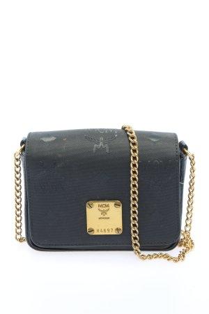 MCM Mini sac noir-doré style décontracté