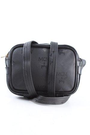 MCM Mini sac gris clair imprimé avec thème style décontracté