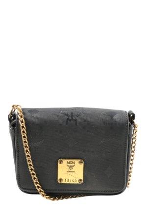 MCM Mini sac noir imprimé allover style décontracté