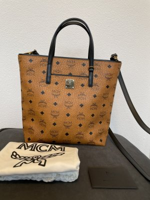 MCM Handbag cognac-coloured-black