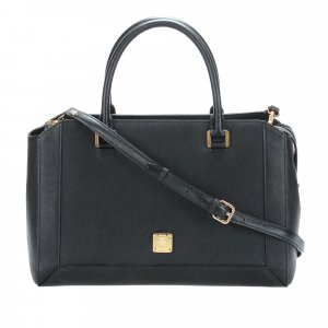 MCM Satchel black leather