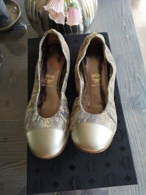 MCM original Schuhe Ballerinas Gr 37 Leder