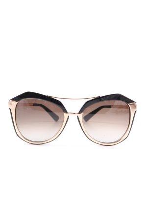 MCM ovale Sonnenbrille schwarz-goldfarben Business-Look