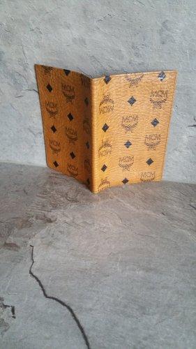 MCM Porte-cartes noir-chameau cuir