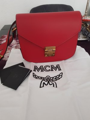 MCM Crossbody bag dark red leather