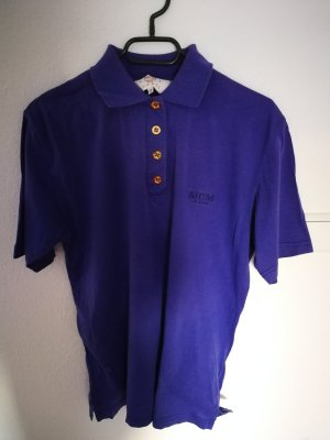 MCM Polo blu-viola-blu