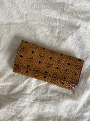 Mcm portmonnae brieftasche cognac logo