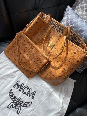 MCM Sac réversible marron clair cuir