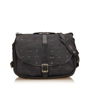 MCM Shoulder Bag black polyvinyl chloride